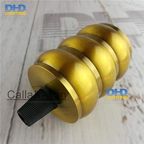 Lamp Base - 50units/pack E27 110V/220V three layers quality gold brass finished aluminum plastic CE/UL lamp socket/vintage lamp holder E27 - (Base Type: UL) by Kamas (Image #3)