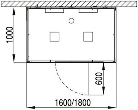 Baño Hoesch Vapor senseperience 180 x 100 cm ducha de vapor con ...