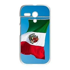 Motorola G Cell Phone Case White Mexico Flag NIO Plastic Personalized Phone Case