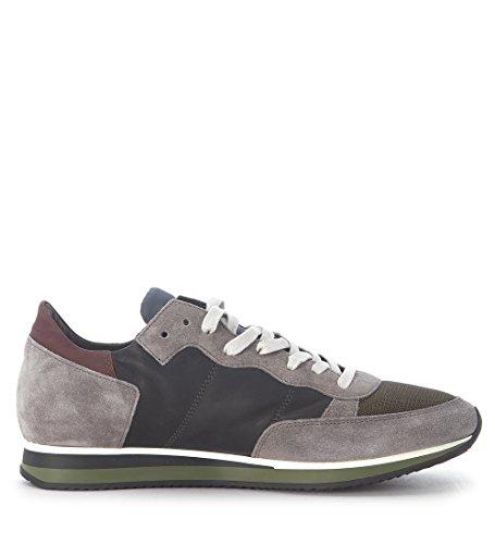Philippe Model Sneaker Tropez in Pelle e Suede Grigi Grigio