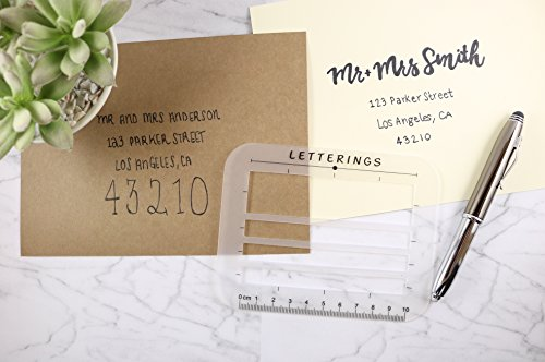 LETTERINGS Envelope Addressing Template Guide 2 Pack