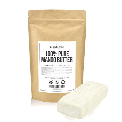 Mango Butter by Better Shea Butter - Pure & Fresh - Amazing Moisturizer, Use Alone or in DIY Body Butters, Soaps, Lotions and More - Lighter Consistency than Shea Butter - Unscented - 8 oz