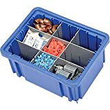 """Product review for Plastic Dividable Grid Container, 10-7/8""""L X 8-1/4""""W X 5""""H, Blue - Lot of 20"""