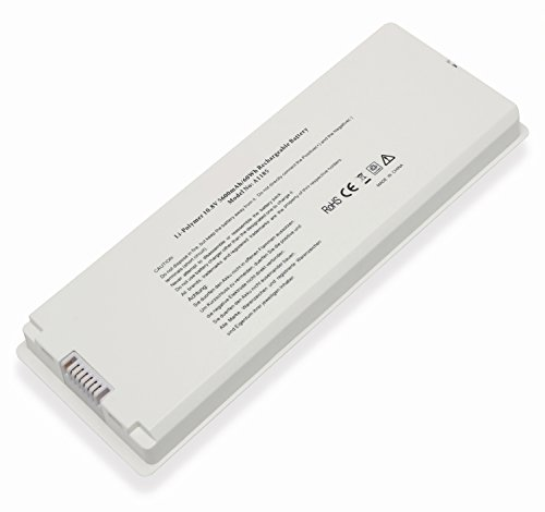 Replacement White Laptop Battery for Apple MacBook 13 inch A1185 A1181 MA561 MA561FE/A MA561G/A MA561J/A [10.8V 5600mAh/60Wh]