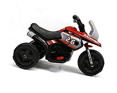 Racing Motorcycle Ride on Car For Kids 3 Power Wheels, Red