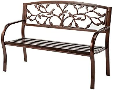 Wind Weather Tree of Life Metal Bench