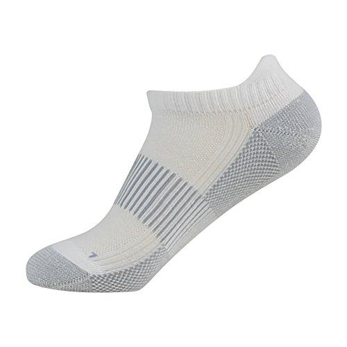 Antibacterial Athletic Socks, FOOTPLUS Men and Women Low Cut Copper Running Socks Moisture Wicking, 6 Pairs White Crew, Medium by FOOTPLUS (Image #5)