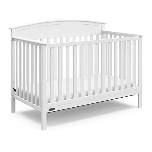 Graco Benton 4-in-1 Convertible Crib (White) - Easily Converts to Toddler Bed, Daybed or Full-Size Bed with Headboard, 3-Position Adjustable Mattress Support Base from Storkcraft