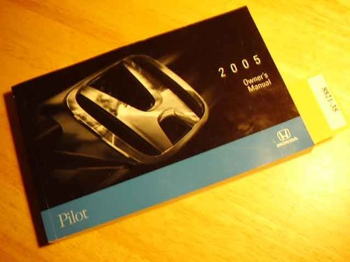 2005 Honda Pilot Owners Manual