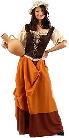 Limit Sport Disfraz de Tabernera Medieval Naranja para Mujer: Amazon.es: Juguetes y juegos