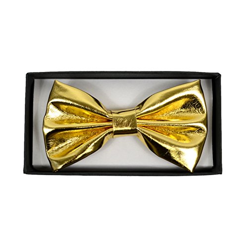 Men's Metallic Gold Banded Bow Tie Gary Majdell Sport (Gold) -