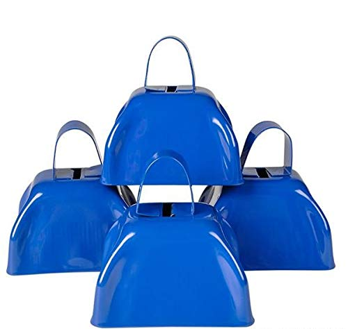 Rhode Island Novelty Blue Metal Cowbell - 12 Pack -