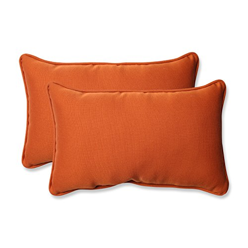 Pillow Perfect Outdoor Cinnabar Rectangular