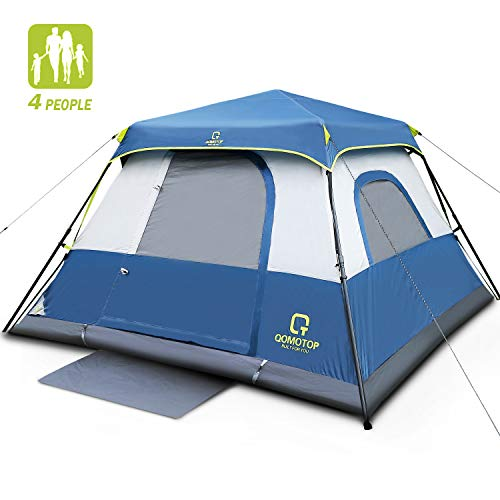 OT QOMOTOP 4 People Cabin Tent, Upgrade Camping Tent, 60 Seconds Set...