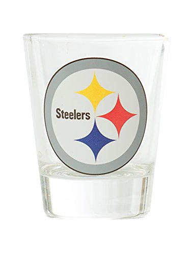 Hunter NFL Pittsburgh Steelers Premium Heavy Base 2.0 oz Shot Glass (Oz 2 Glass Shot Nfl)