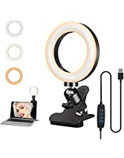 Foscomax Video Conference Lighting Kit, Dimmable LED Ring Light 3000-7500k Clip on Light Conference Light Zoom Lighting for Remote Working/Distance Learning/Live Streaming/Video Conferencing/ YouTube Video/ Makeup