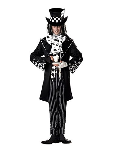 California Costumes Men's Dark Mad Hatter Costume,Multi,Large ()
