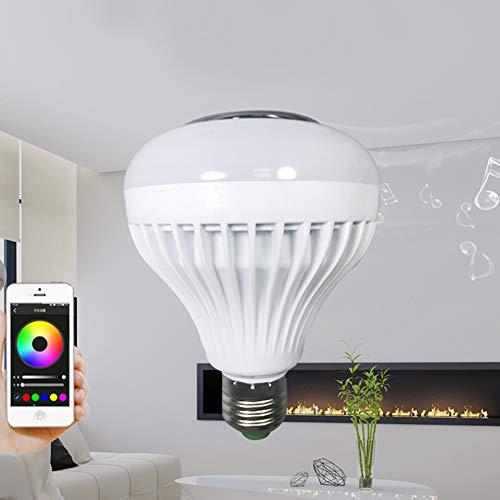 Eleganantamazing E27 - Foco LED RGB de 110 – 220 V con Mando a Distancia para decoración de Fiestas, Remote Control with White Light