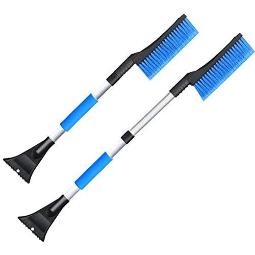 (TUTU-C Auto Car Vehicle Snow Ice for Scraper SnoBroom Snowbrush Shovel Removal Brush Winter Retractable Handle Snow Scraper)