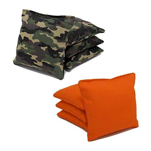Regulation Cornhole Bags (Set of 8) Camouflage and Orange by Free Donkey Sports® (Camouflage Bean Bag)