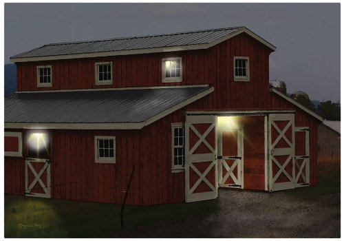 Ohio Wholesale Radiance Lighted Horse Barn Canvas Wall Art, from our Everyday Collection by Ohio Wholesale