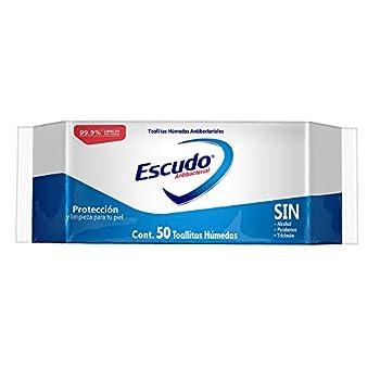 Escudo Antibacterial Toallitas Húmedas, Paquete de 50 Amazon Aspiración, Limpieza y Planchado Hogar y Cocina Productos de Limpieza Productos y Utensilios de Limpieza