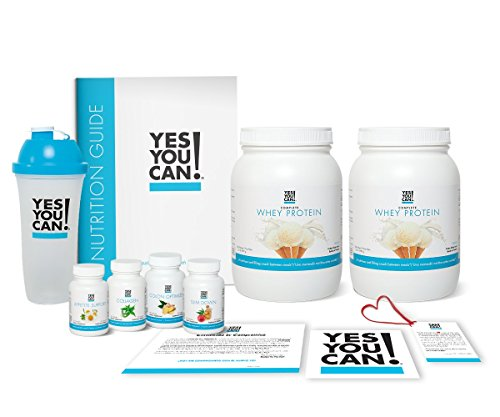 Yes You Can! Transform Kit: Food Lover 60 Servings, Twice a Day, Contains: Two Complete Whey Protein Vanilla, One Slim Down, One Appetite Support, One Collagen, One Colon Optimizer, One Shaker ()