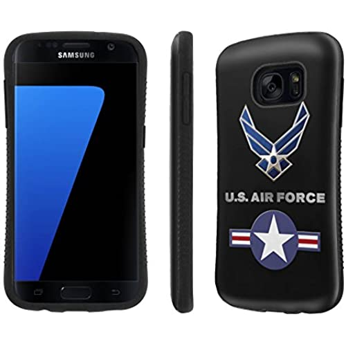 Galaxy [S7] Tough Designer Case [SlickCandy] [Black Bumper] Ultra Shock Absorbent - [US Air Force] for Samsung Galaxy S7 / GS7 Sales