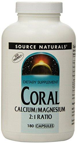 Source Naturals Coral Calcium/Magnesium 2:1 Ratio, 180 Capsules ()