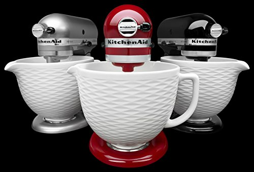 Kitchenaid Ksmcb5tlw 5 Qt Tilt Head Textured Ceramic Bowl