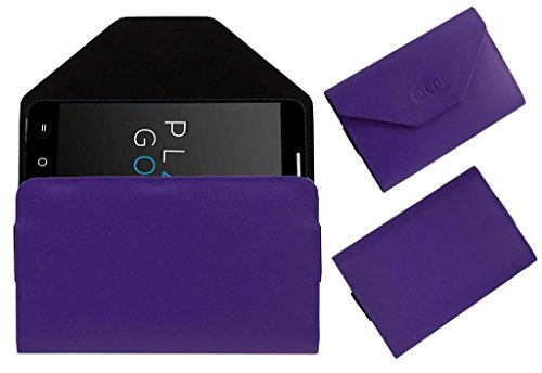Acm Pouch Case Compatible with Micromax Yu Yureka A05510 Flip Flap Cover Holder Purple