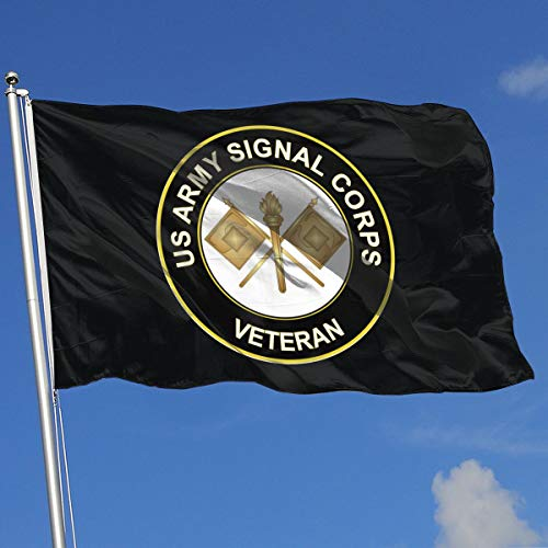 Wanghaojiemimi US Army Veteran Signal Corps 3x5 Foot Home Garden Decor Flag
