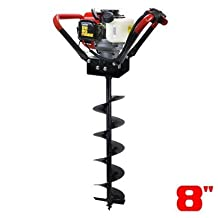 """FISTERS New 2.2 HP Gas Powered Post Hole Digger W/ 8"""" Auger Drill Bit 49CC Power Engine"""