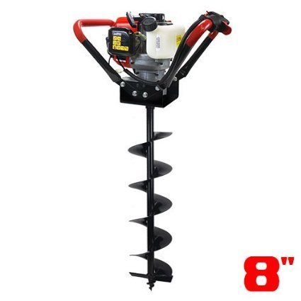 2.2HP Gas Powered Post Hole Digger Auger 52CC Power Engin...