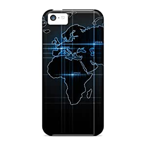 World Map dirt-proof phone cover case Hd Nice Iphone5c iphone 5c
