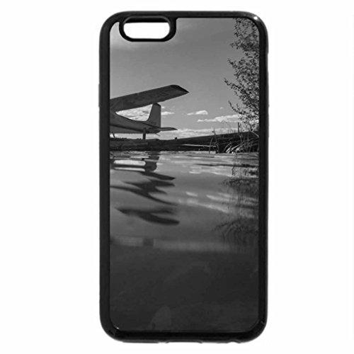 iPhone 6S Plus Case, iPhone 6 Plus Case (Black & White) - Florida Keys Plane Everglades