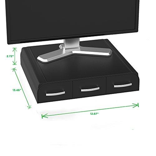 Mind Reader PC, Laptop, IMAC Monitor Stand and Desk Organizer, Black
