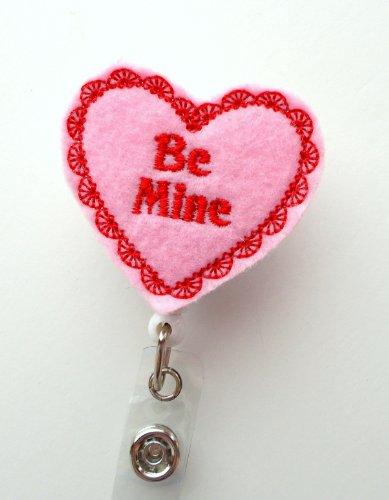 Be Mine - Name Badge Holder - Cute Badge Reel - Nurse Badge Holder - Nursing Badge Clip - Teacher Badge Reel Photo #3