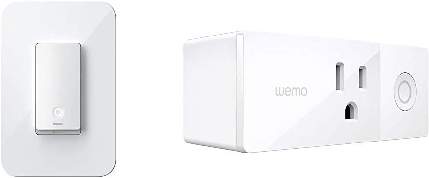 WeMo Smart Light Switch 2ND Gen Bundle with Wemo Mini Smart Plug, WiFi Enabled, Works with Alexa, Google Assistant & Apple HomeKit