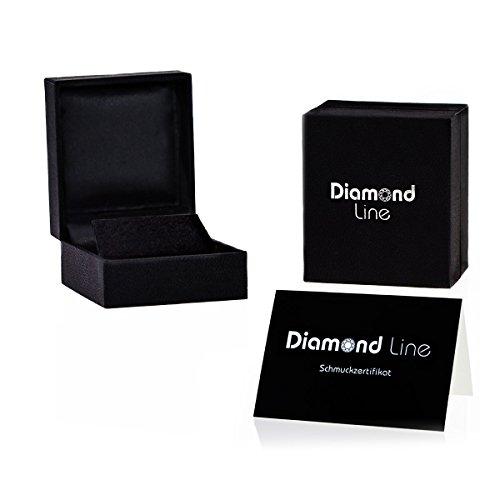 Diamond Line-Boucles d'Oreilles Diamant en Or Jaune et Diamant 0.40ct Taille brillant 1.0cm-121716