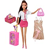 Doll Travel Play Set, Includes 12 Inch Flight...