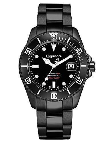 Gigandet Reloj de Hombre Automático Sea Ground Reloj de Buceo Analógico Correa de Acero Negro G2-003: Gigandet: Amazon.es: Relojes