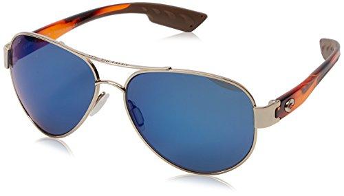 Costa del Mar South Point Polarized Iridium Aviator Sunglasses, Rose Gold w/Light Tortoise, 59.0 - Gold Costa