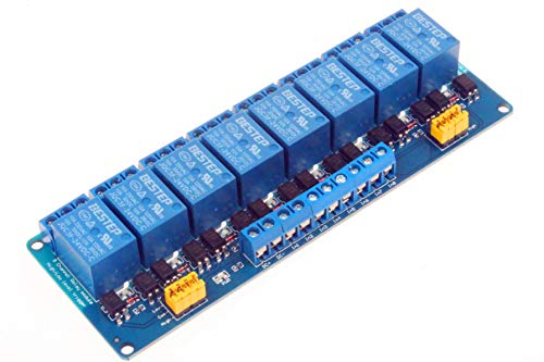 NOYITO 8 Channel Relay Module High Low Level Trigger Optocoupler isolation Load DC 30V AC 125V 250V 10A for PLC Automation Equipment Control Industrial Control Circuit Modification (5V)