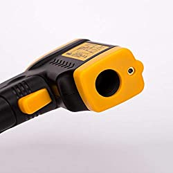 Lee Lam Digital Thermometer Laser Thermometer Gun -50°C to 380°C(-58°F to 716°F) with Adjustable Emissivity, Non-Contact Voltage Tester