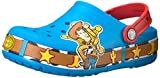 crocs Unisex-Kids CB FL Woody Lights Clog K, Turquoise, 9 M US Toddler