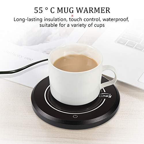 ZOIIBUY Mug Warmer 110V 15W Electric Beverage Warmer Coffee Cup Warmer Plate Up to 60℃ for Tea,Water,Cocoa,Soup or Milk, 8 Hour Auto Shut Off by Zoiibuy (Image #2)