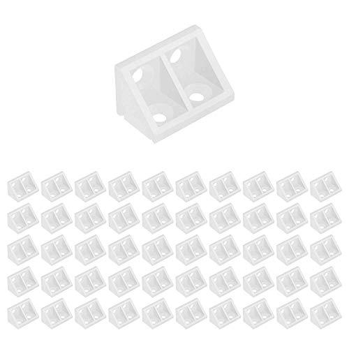 Bluecell 50pcs Clear Color Plastic 4 Holes Cabinet Shelf Corner Brace Joint Brackets - Bracket Plastic