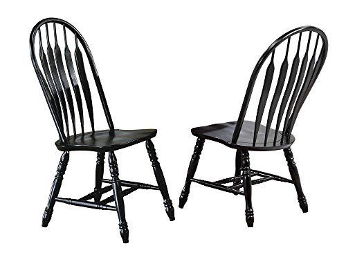 Sunset Trading Comfort Back Dining Chair, Set of 2, 41 , Antique Black