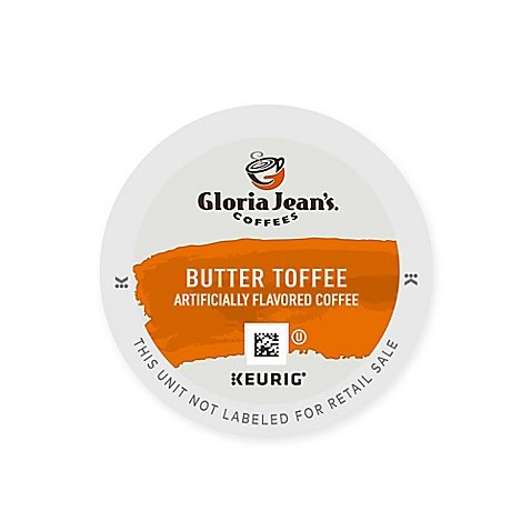 Pack 48-Count Gloria Jean's Butter Toffee Coffee Value Pack - Gloria Jeans Coffee Butter Toffee